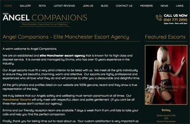 Angel Companions Manchester Escorts Agency Website Revamped by Wave69