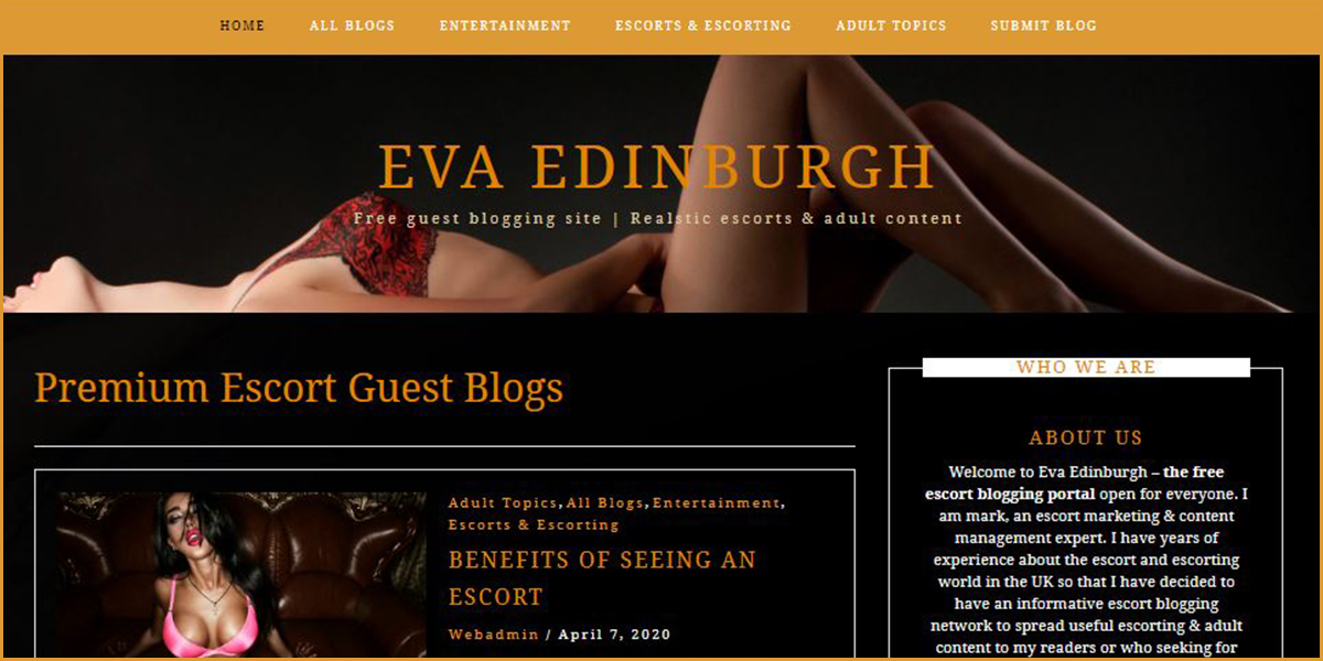 Eva Edinburgh - Free Adult Guest Blogs